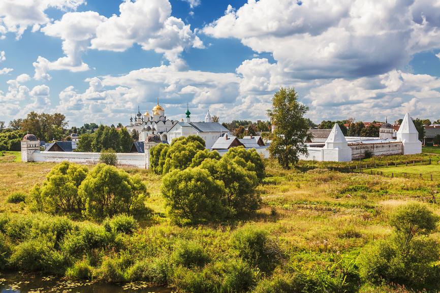 Покровский женский монастырь, Суздаль, вид сверху © Наталья Волкова / Фотобанк Лори