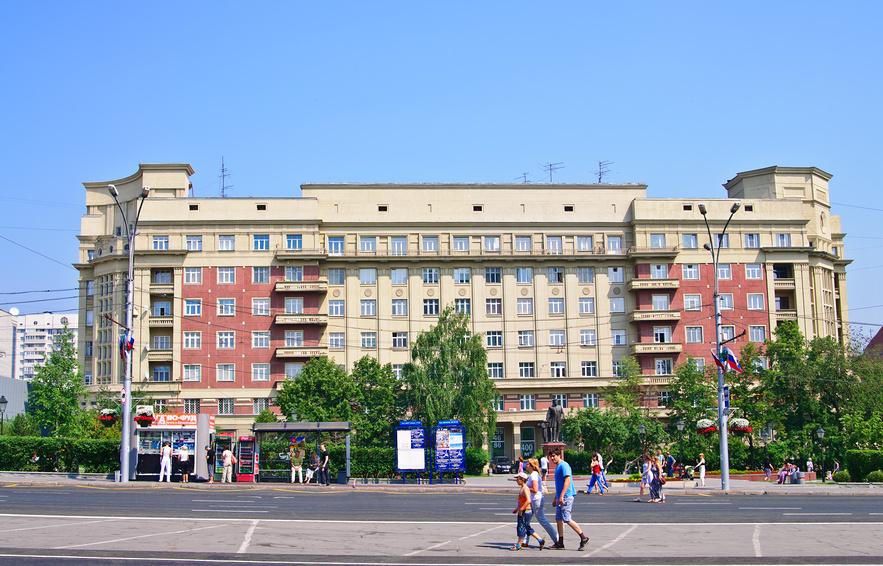 Площадь Свердлова в Новосибирске © Anna Bukharina / Фотобанк Лори