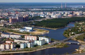 Вид на Сургут сверху © Владимир Мельников / Фотобанк Лори