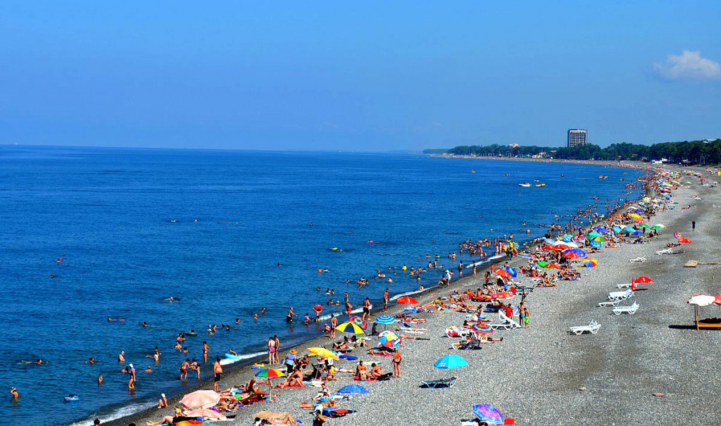 Пляж-города-Кобулети