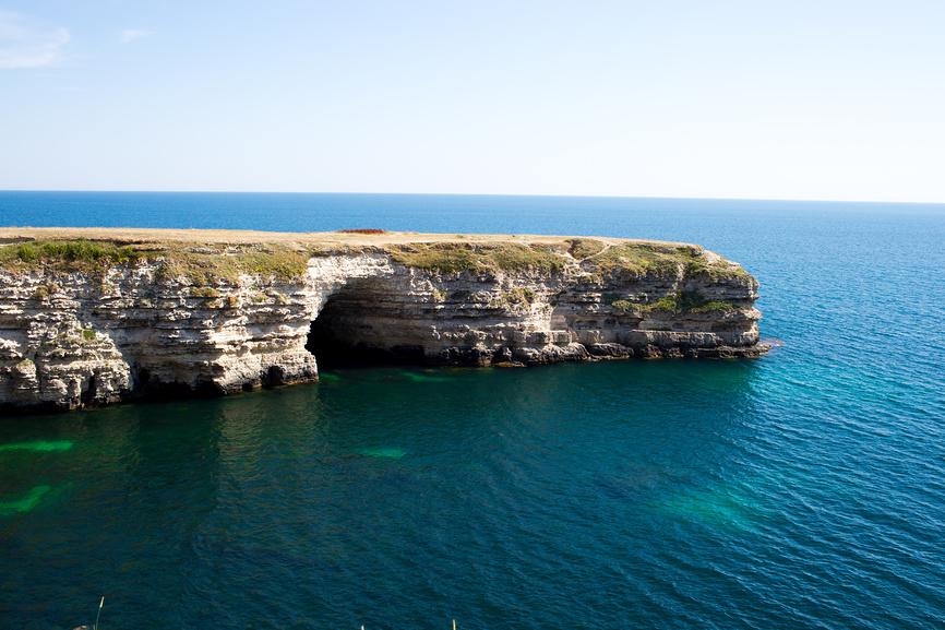 Морской пейзаж полуострова Тарханкут, Республика Крым © Юлия Преснякова / Фотобанк Лори
