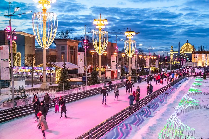 Большой ледовый каток на ВДНХ. Москва, Россия © Владимир Сергеев / Фотобанк Лори