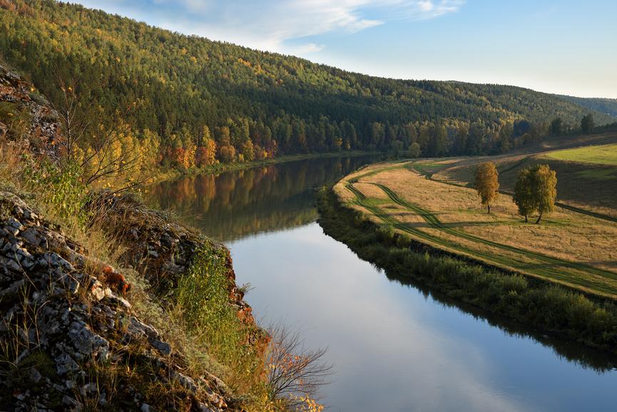 Уральская река Юрюзань © Сергей Костарев / Фотобанк Лори