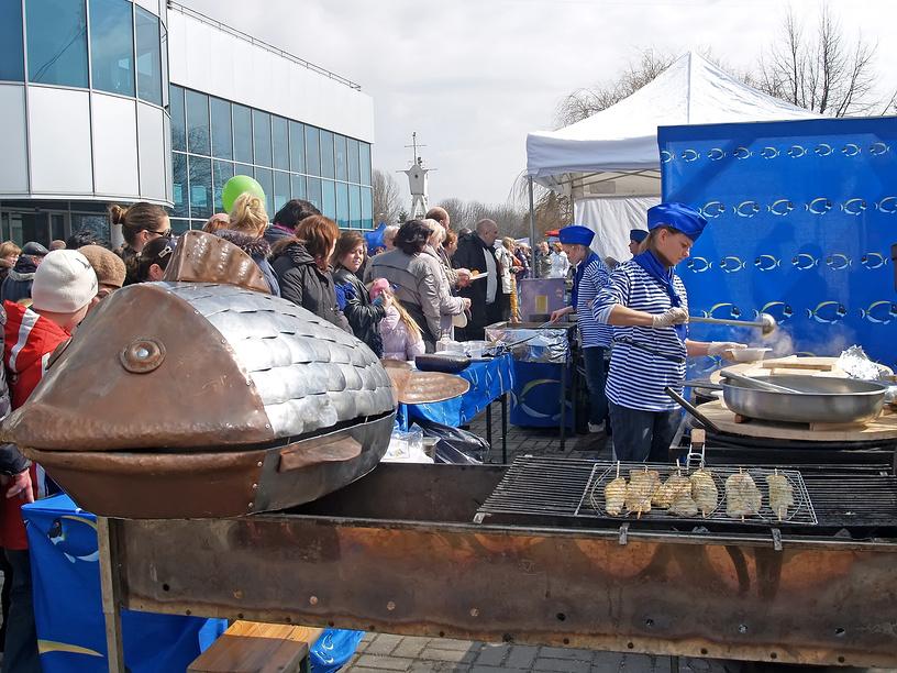 Калининград. Рыбная кухня на Дне селедки