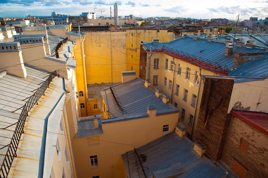 Вид с крыши. Улица Марата. Санкт-Петербург © Марина Володько / Фотобанк Лори