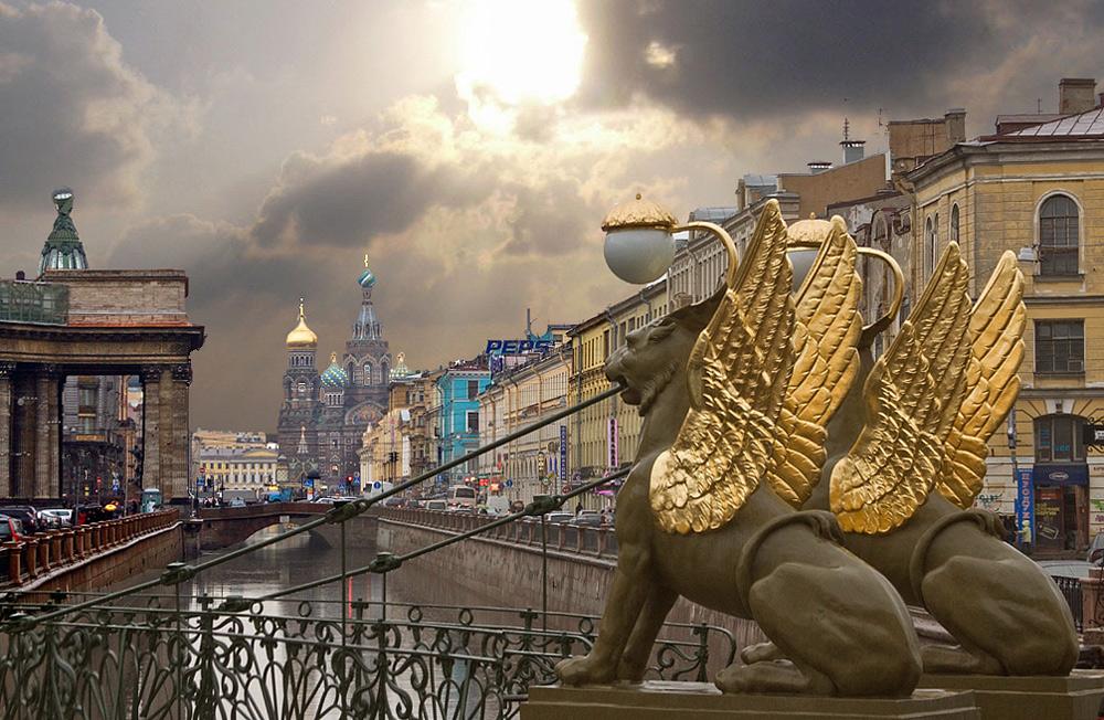 Image result for Египетский мостик в Питере